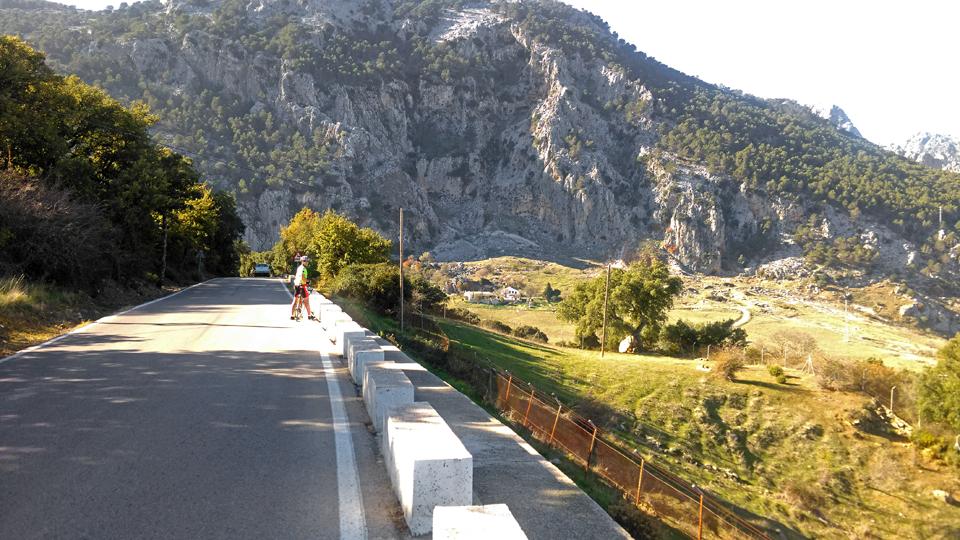 Dan on the climb to Grazalema