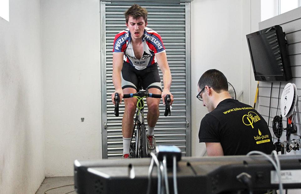 Lactate ramp testing at Bike Science, Bristol