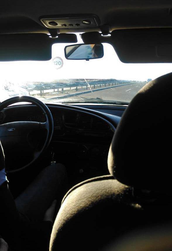 Sunrise, en-route to the race