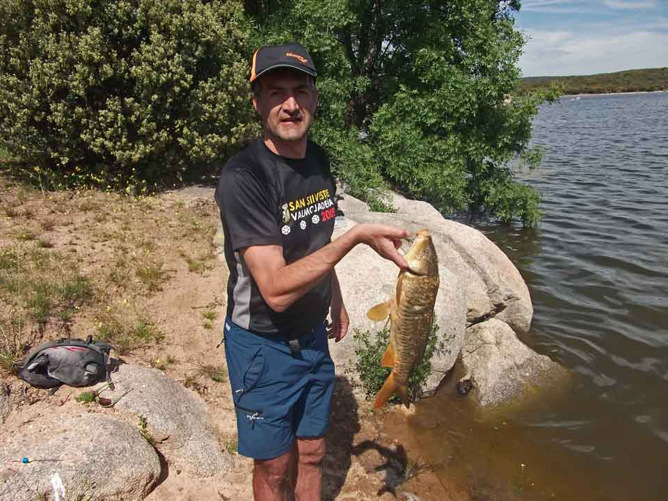 Alfredo fishing at the lake
