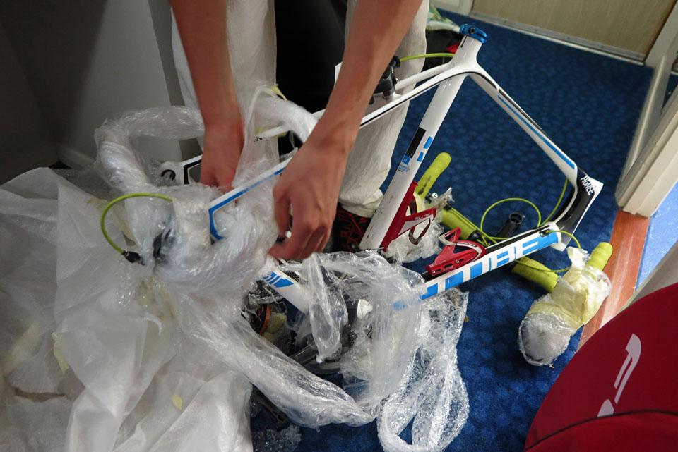Unpacking the bike