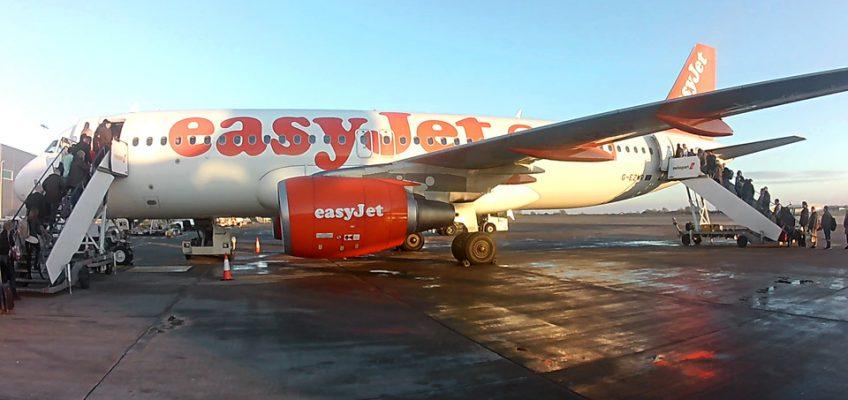 Boarding the flight at Bristol Airport