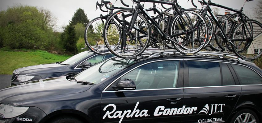Rapha Condor Team Car at the Totnes Vire